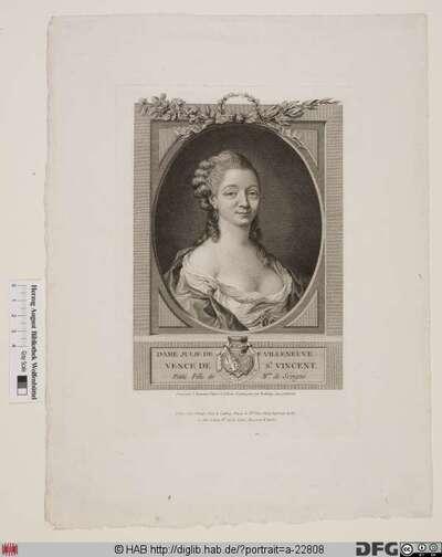 Bildnis Julie de Villeneuve-Vence de St. Vincent