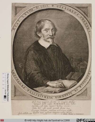 Bildnis Gijsbert Voet (lat. Gisbertus Voetius)