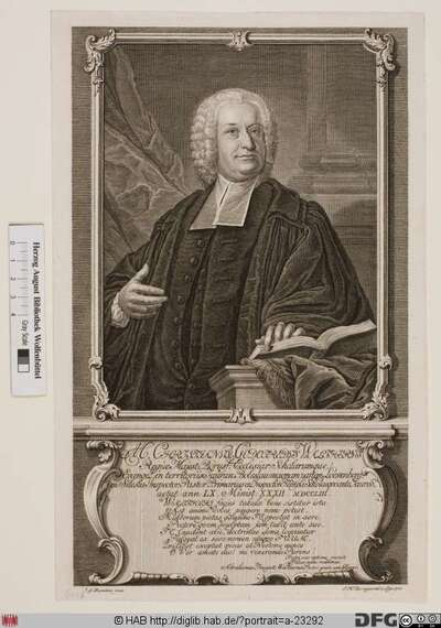 Bildnis Christian Gottfried Walther