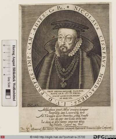 Bildnis Nicolaus Cisnerus (eig. Kistner)