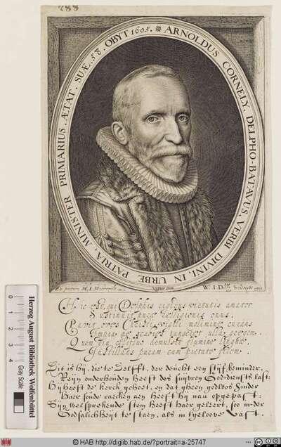 Bildnis Arnold Cornelisz. Crusius