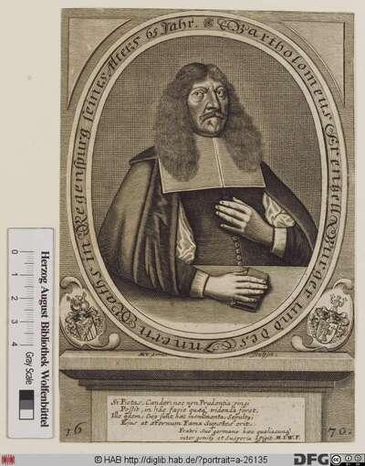 Bildnis Bartholomäus Frentzel