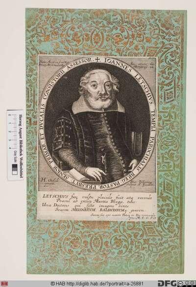 Bildnis Johann Letsche (Letschius)