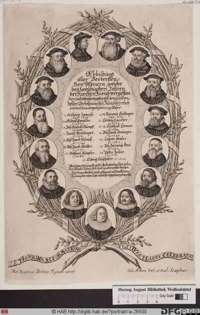 Bildnis Pfarrer von Zürich