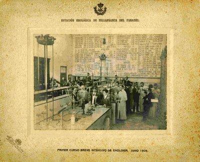 Primer curs breu intensiu. Juny 1909.