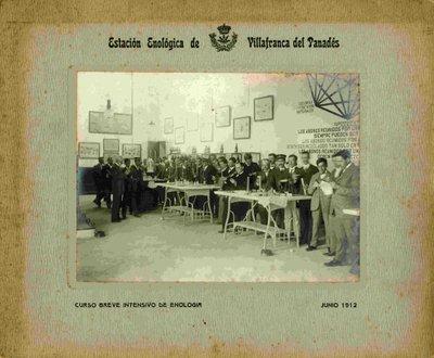 Curs breu intensiu d'enologia. Juny 1912.