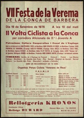 VII Festa de la Verema. II Volta Ciclista de la Conca