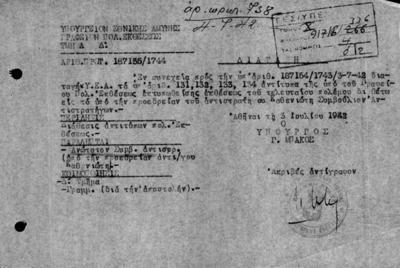 ΔΙΑΤΑΓΗ ΤΟΥ ΓΡΑΦΕΙΟΥ ΠΟΛΕΜΙΚΗΣ ΕΚΘΕΣΕΩΣ ΤΟΥ ΥΠΟΥΡΓΕΙΟΥ ΕΘΝΙΚΗΣ ΑΜΥΝΗΣ ΤΗΣ 03/07/1942 ΠΡΟΣ ΤΟ ΣΥΜΒΟΥΛΙΟ ΑΠΟΣΤΡΑΤΩΝ ΑΝΤΙΣΤΡΑΤΗΓΩΝ, ΣΧΕΤΙΚΑ ΜΕ ΤΗΝ ΥΠΟΒΟΛΗ ΑΝΤΙΤΥΠΩΝ ΤΗΣ ΕΚΤΥΠΩΘΕΙΣΗΣ ΑΠΟ ΤΟ ΓΡΑΦΕΙΟ ΕΚΘΕΣΕΩΣ ΤΟΥ ΠΟΛΕΜΟΥ