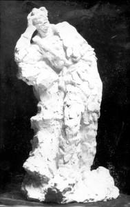 Skica za spomenik Petrici Kerempuhu - stojeća figura