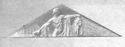 Apolon Delfijski - skica za timpanon Umjetničkog paviljona