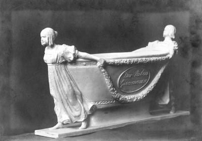 Klasicistički sarkofag - skica nadgrobnog spomenika