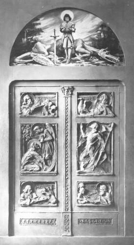Skica vratnica s motivima 4 evanđelista za grob biskupa Juraja Dobrile