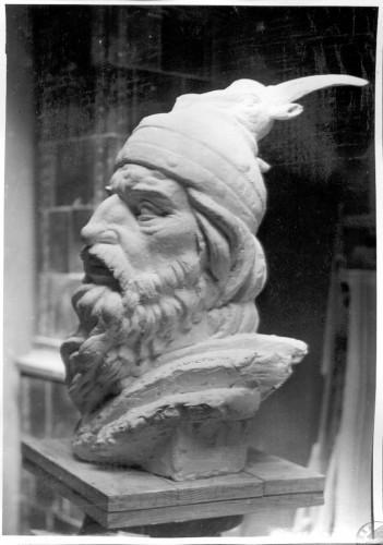 Skica za spomenik Skender-begu u Tirani - glava
