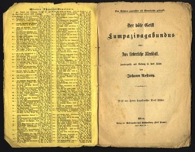 Der böse Geist Lumpazivagabundus oder: Das liederliche Kleeblatt