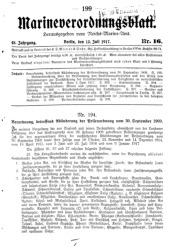 Marineverordnungsblatt, Nr.16, 1917