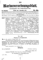 Marineverordnungsblatt, Nr.24, 1917