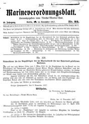 Marineverordnungsblatt, Nr.25, 1917