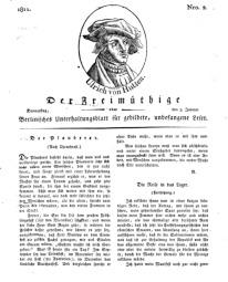 Der Freimüthige, oder Berlinisches Unterhaltungsblatt für gebildete, unbefangene Leser, 3 Januar 1811, Nr. 2