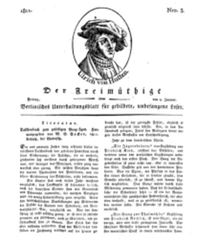 Der Freimüthige, oder Berlinisches Unterhaltungsblatt für gebildete, unbefangene Leser, 4 Januar 1811, Nr. 3