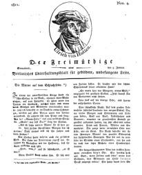 Der Freimüthige, oder Berlinisches Unterhaltungsblatt für gebildete, unbefangene Leser, 5 Januar 1811, Nr. 4
