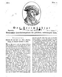 Der Freimüthige, oder Berlinisches Unterhaltungsblatt für gebildete, unbefangene Leser, 10 Januar 1811, Nr. 7