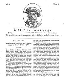 Der Freimüthige, oder Berlinisches Unterhaltungsblatt für gebildete, unbefangene Leser, 11 Januar 1811, Nr. 8