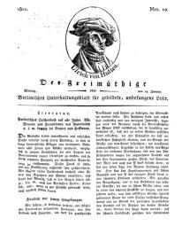 Der Freimüthige, oder Berlinisches Unterhaltungsblatt für gebildete, unbefangene Leser, 14 Januar 1811, Nr. 10