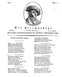 Der Freimüthige, oder Berlinisches Unterhaltungsblatt für gebildete, unbefangene Leser, 15 Januar 1811, Nr. 11