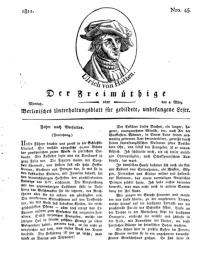 Der Freimüthige, oder Berlinisches Unterhaltungsblatt für gebildete, unbefangene Leser, 4 März 1811, Nr. 45