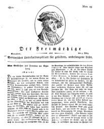 Der Freimüthige, oder Berlinisches Unterhaltungsblatt für gebildete, unbefangene Leser, 9 März 1811, Nr. 49