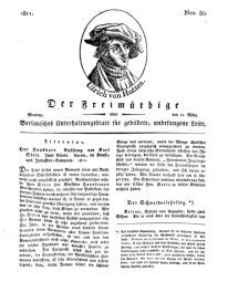 Der Freimüthige, oder Berlinisches Unterhaltungsblatt für gebildete, unbefangene Leser, 11 März 1811, Nr. 50
