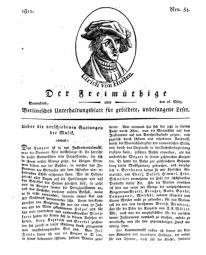 Der Freimüthige, oder Berlinisches Unterhaltungsblatt für gebildete, unbefangene Leser, 16 März 1811, Nr. 54