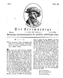 Der Freimüthige, oder Berlinisches Unterhaltungsblatt für gebildete, unbefangene Leser, 18 März 1811, Nr. 55