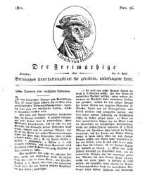 Der Freimüthige, oder Berlinisches Unterhaltungsblatt für gebildete, unbefangene Leser, 16 April 1811, Nr. 76