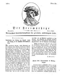 Der Freimüthige, oder Berlinisches Unterhaltungsblatt für gebildete, unbefangene Leser, 27 April 1811, Nr. 84