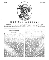 Der Freimüthige, oder Berlinisches Unterhaltungsblatt für gebildete, unbefangene Leser, 4 Mai 1811, Nr. 89