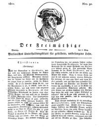 Der Freimüthige, oder Berlinisches Unterhaltungsblatt für gebildete, unbefangene Leser, 6 Mai 1811, Nr. 90