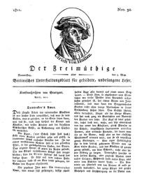 Der Freimüthige, oder Berlinisches Unterhaltungsblatt für gebildete, unbefangene Leser, 9 Mai 1811, Nr. 92