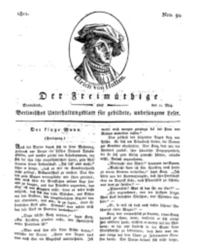 Der Freimüthige, oder Berlinisches Unterhaltungsblatt für gebildete, unbefangene Leser, 11 Mai 1811, Nr. 94