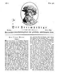 Der Freimüthige, oder Berlinisches Unterhaltungsblatt für gebildete, unbefangene Leser, 14 Mai 1811, Nr. 96