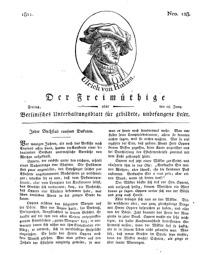 Der Freimüthige, oder Berlinisches Unterhaltungsblatt für gebildete, unbefangene Leser, 28 Juni 1811, Nr. 128