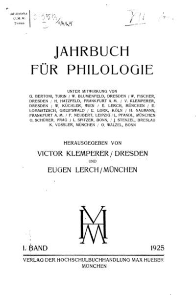 Jahrbuch für Philologie