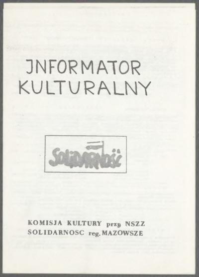 Informator Kulturalny Solidarność: Numer nadzwyczajny [nr 1]