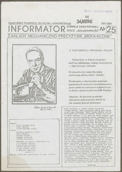 Informator Komisji Zakładowej NSZZ Solidarność, nr 25