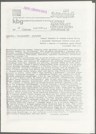 KBG - Kombinat Budowlany w Gdyni, nr 18