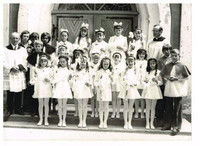 1975. I komunia święta w parafii św. Marcina w Gostycynie