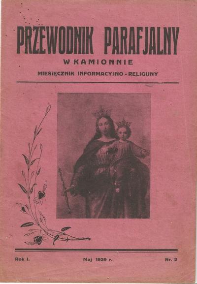 Maj 1929. Przewodnik Parafialny w Kamionnie.