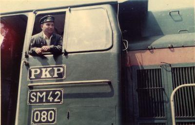 Lata 80. Henryk Gajbowicz - maszynista kolejowy