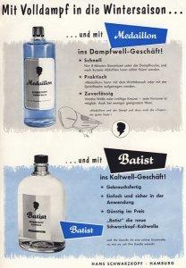 HANS SCHWARZKOPF - MEDAILLON und BATIST