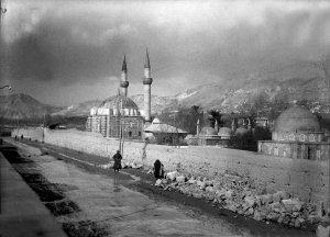 Damascus, Tekkije, Blick auf die Hedschi-Moschee